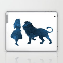 Lion and girl Laptop & iPad Skin