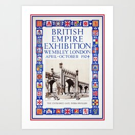 1924 British Empire Exhibition Wembley London Art Print