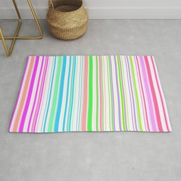 Stripes Colorful Simple Pattern Summer Rug