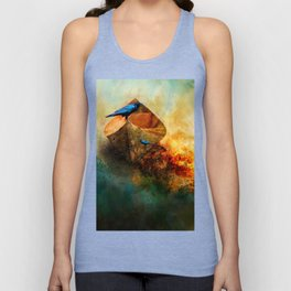 Beached Crow Unisex Tank Top