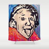einstein Shower Curtains featuring Einstein by Paola Gonzalez