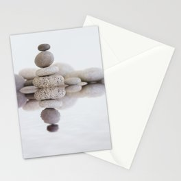 Stone Balance pebble cairn and water Stationery Cards