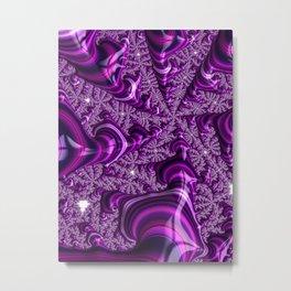 Magenta Fractal Metal Print