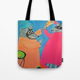 Altercation over Cheese Tote Bag