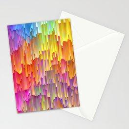 Vibrant Rainbow Cascade Design Stationery Cards