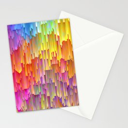 Vibrant Rainbow Cascade Design Stationery Cards