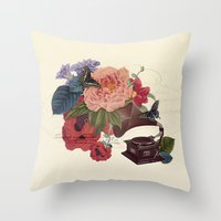 flora Throw Pillows featuring FLORA by Pepper / Shop