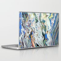 geology Laptop & iPad Skins featuring Fluctuating Geology by Christina Stavers