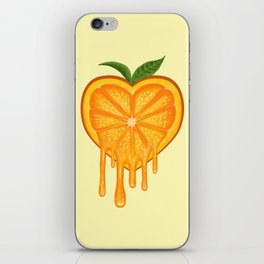 Love Orange iPhone Skin