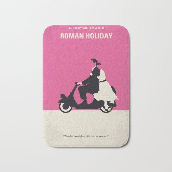 No205 My Roman Holiday minimal movie poster Bath Mat