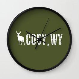 Deer: Cody, Wyoming Wall Clock