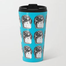 Minifigure Pattern – Blue Travel Mug