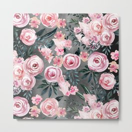 Night Rose Garden Metal Print