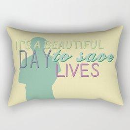 it's a beautiful day Rectangular Pillow