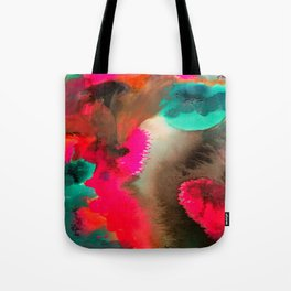Modern Storm Abstract Tote Bag