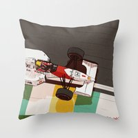senna Throw Pillows featuring Senna by Bruno Gabrielli
