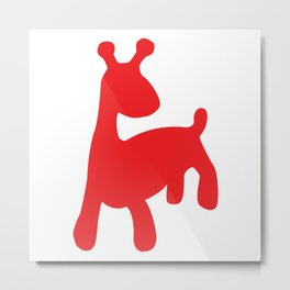beesteke uno - the red fantasy animal Metal Print