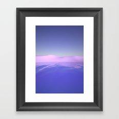 Purple Beach Framed Art Print