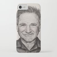 robin williams iPhone & iPod Cases featuring Robin Williams by Lindsay Hall