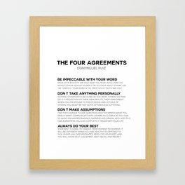 the four agreements Framed Art Print