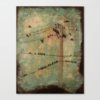 the wire Canvas Prints featuring Wire by Carmen McCormick