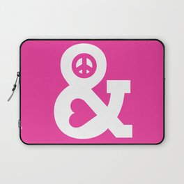 Peace and Love (pink edition) Laptop Sleeve