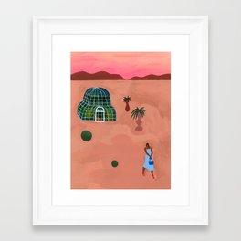 La nuit au Dôme Framed Art Print