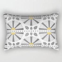 Gold Accent Art Deco Fan Rectangular Pillow