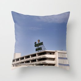 Empress Hotel Throw Pillow