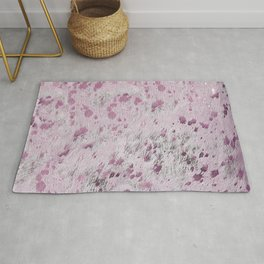 Pink Hide Print Metallic Rug