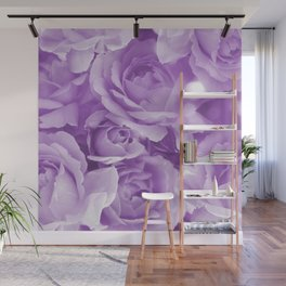 Violet Rose Bouquet For You - Valentine's Day #decor #society6 #homedecor Wall Mural
