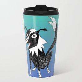 Basic Border Collie Metal Travel Mug