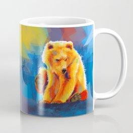 Play with a Bear - Animal digital painting, colorful illustration Coffee Mug