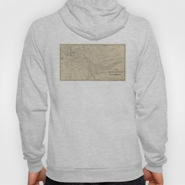 Vintage Map of Saratoga Springs NY (1895) Hoody