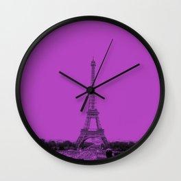 Paris Eiffel Tower Series V by Billy Bernie Wall Clock