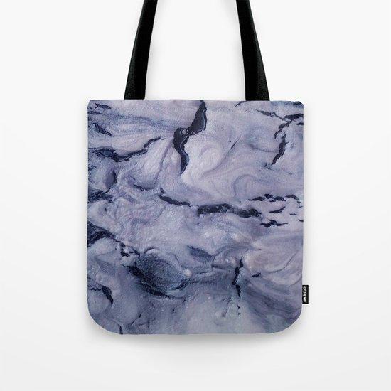 gray marble Tote Bag