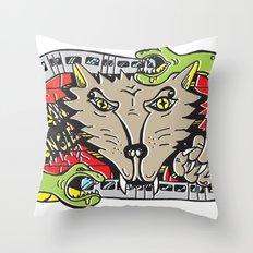 FUZI X STREETART.COM Throw Pillow