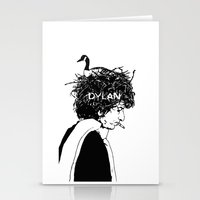 dylan Stationery Cards featuring Dylan by Sy Graham
