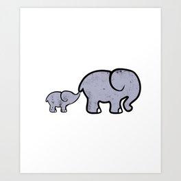 Elephant Big Boar Forest Giant Mammal Animal Gift  Art Print