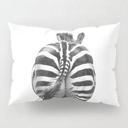 Black and White Zebra Tail Pillow Sham