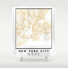 NEW YORK CITY NEW YORK CITY STREET MAP ART Shower Curtain