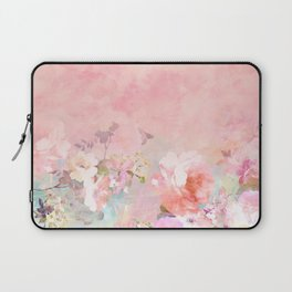 Modern blush watercolor ombre floral watercolor pattern Laptop Sleeve