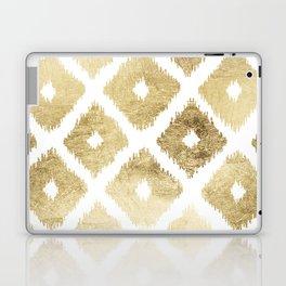 Modern chic faux gold leaf ikat pattern Laptop & iPad Skin
