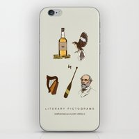 tequila iPhone & iPod Skins featuring Tequila Mockingbird by sam mitchell