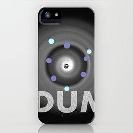 Dum! la onomatopeya del sonido del bajo en el altavoz para bailar iPhone Case