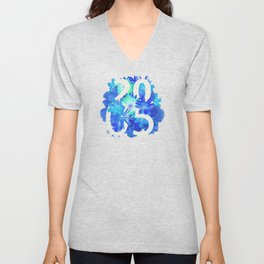 Blue Flower 2005 Unisex V-Neck