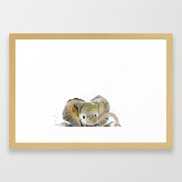 Hello,Anybody At Home? - Baby Elephant Framed Art Print