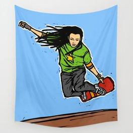 Skater girl Wall Tapestry