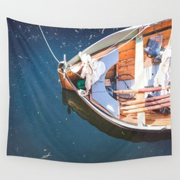 Nautical Fine Art Photography Boat in Water Wall Tapestry