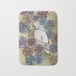 Rose Owl Bath Mat